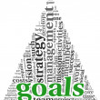 Stock Photo: Goals concept in word tag cloud