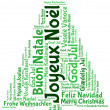 Joyeux noel 2014 in tag cloud — Stock Photo