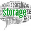 Storage concept in word cloud — Stock Photo