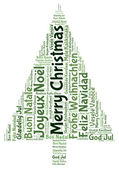 Merry christmas 2014 in tag cloud — Foto de Stock