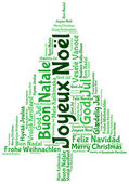 Joyeux noel 2014 in tag cloud — Foto de Stock