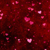 Red hearts background — Photo