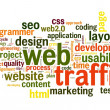 Web traffic concept — Stock Photo