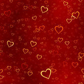 Red hearts background — Stock fotografie