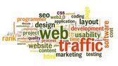 Web traffic concept — Stock Photo