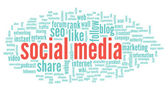 Social media conept — Stock Photo