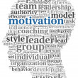 Motivation concept in word tag cloud — 图库照片