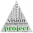 Project and vision in tag cloud — Stock Photo #40504983