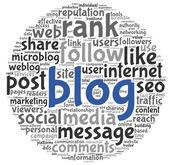 Blog conceito na nuvem de tags de palavra — Foto Stock