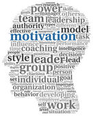 Motivation concept in word tag cloud — Stock Photo