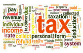Tax concept in word tag cloud — Stock Photo
