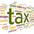Stock Photo: Tax concept in word tag cloud