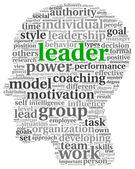 Leader concept in word tag cloud — Stock Photo
