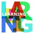 Learning - abstract color letters — Stock Photo