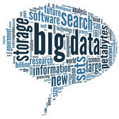 Big data concept in word cloud — Stock Photo