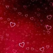 Fond de coeurs rouges — Photo