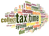 Tax time concept in word tag cloud — Stock Photo