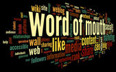Word of mouth in word tag cloud — Stock Photo