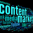Content marketing conept in word tag cloud — Stock Photo #46935773