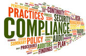 Compliance and audit in word tag cloud — Stock Photo