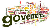 Governance and compliance in word tag cloud — Stock Photo