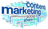 Content marketing conept in word tag cloud — Stock Photo