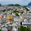 Alesund city. Norwegian centre of Art Nouveau architecture. Norw - Stock Photo