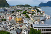 Alesund city. Norwegian centre of Art Nouveau architecture. Norw — Stock Photo