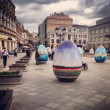 Easter eggs in the center of Moscow. Russia. — Stock Photo