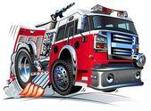 Cartoon Fire Truck — Stock Vector