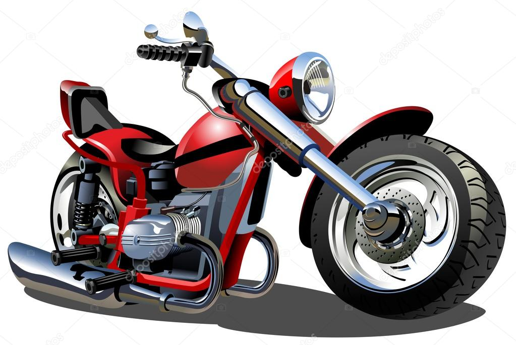 Vector Cartoon Motorcycle. Available AI-10 vector format separated by groups and layers for easy edit — Stock Vector #12752028