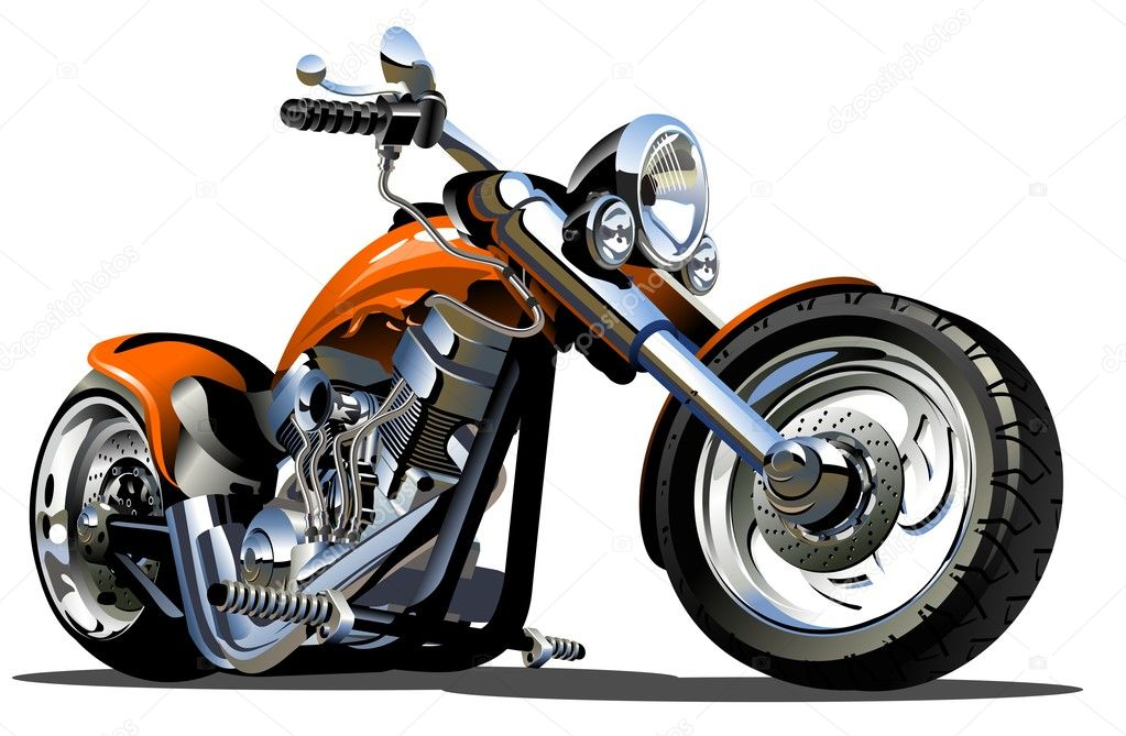 Vector Cartoon Motorbike. Available AI-10 vector format separated by groups and layers for easy edit. — Stock Vector #13582393