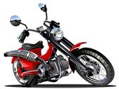 Vector Cartoon Motorcycle — Stock Vector