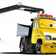 Stock Vector: Vector Cartoon Tow Truck