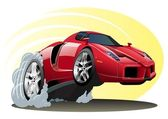 Vector cartoon sportcar — Stockvector