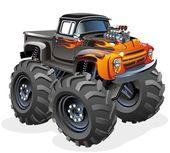 Caminhão de monstro dos desenhos animados — Vetorial Stock