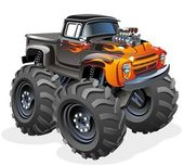 Tecknade monstertruck — Stockvektor