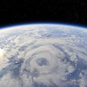 Storm view from the Earth orbit — Stock Photo