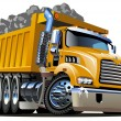 Vector Cartoon Dump Truck - Image vectorielle