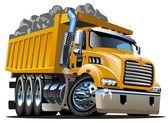 Vector Cartoon Dump Truck — Stock Vector