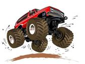 Cartoon Monster Truck — Stockvector