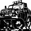 Royalty-Free Stock Vector Image: Cartoon jeep