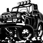Cartoon jeep — Stock Vector #22685465