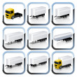 Royalty-Free Stock Vector Image: Truck Trailaers Icons Set
