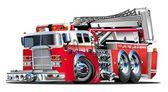 Vektor-Cartoon-Feuerwehrauto — Stockvektor