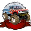 Royalty-Free Stock Vector Image: Cartoon Monster Truck