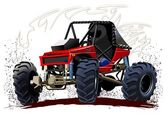 Vector Cartoon Buggy — Stockvector