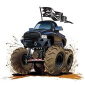 Cartoon Monstertruck — Stockvector