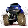 Cartoon Monster Truck — Stock vektor