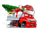 Cartoon Christmas Truck — Stock Vector
